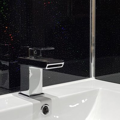 Black Rainbow Sparkle Sink