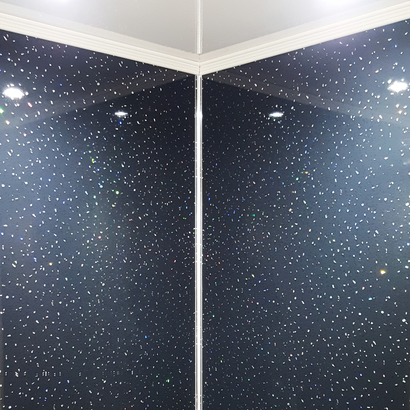 Aquamax Black Sparkle Metre Wide Shower Wall Panels