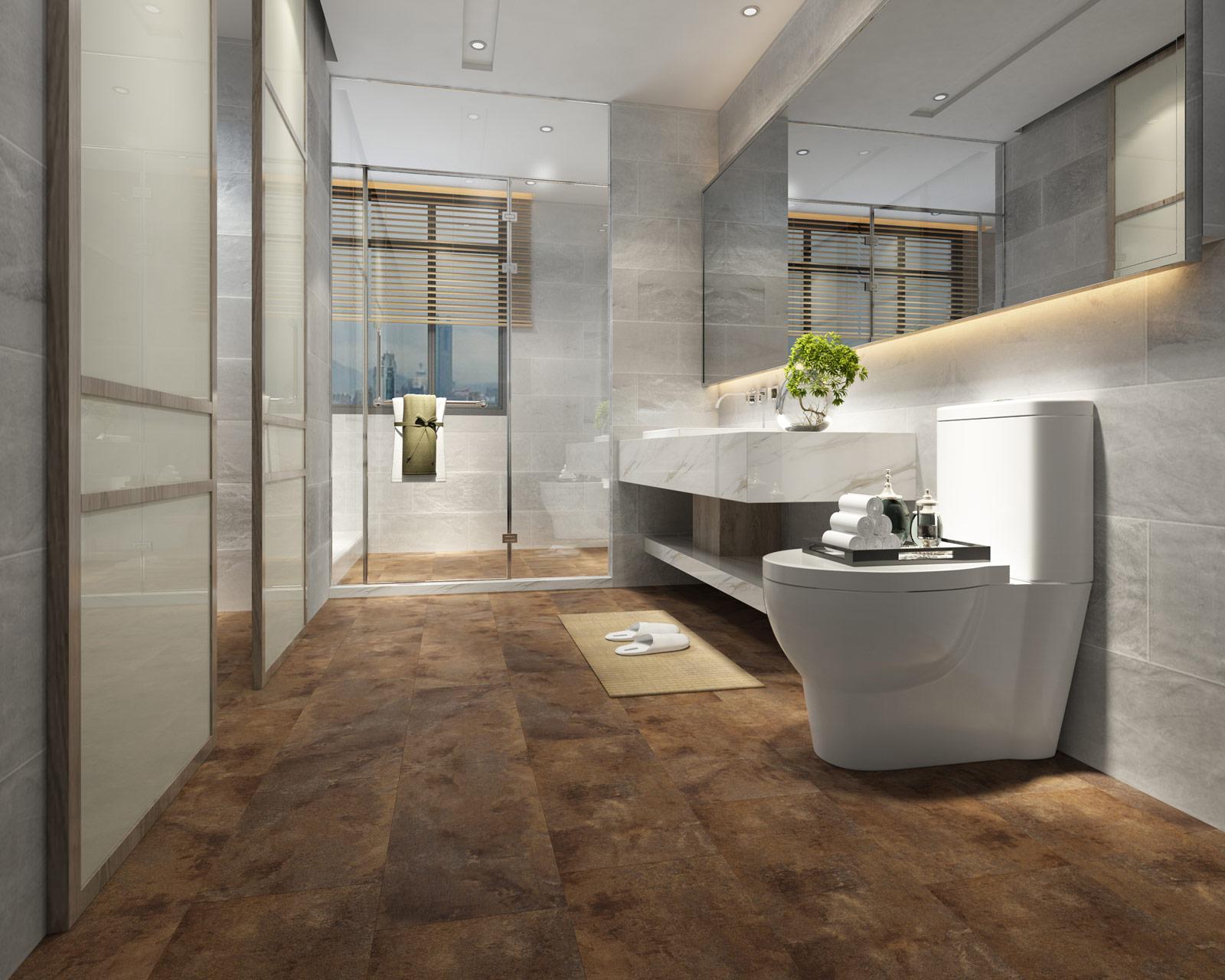 ClickLoc Tile Carrara Slate Bronze Flooring