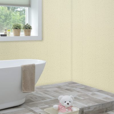 Cream Sparkle Bathroom Corner