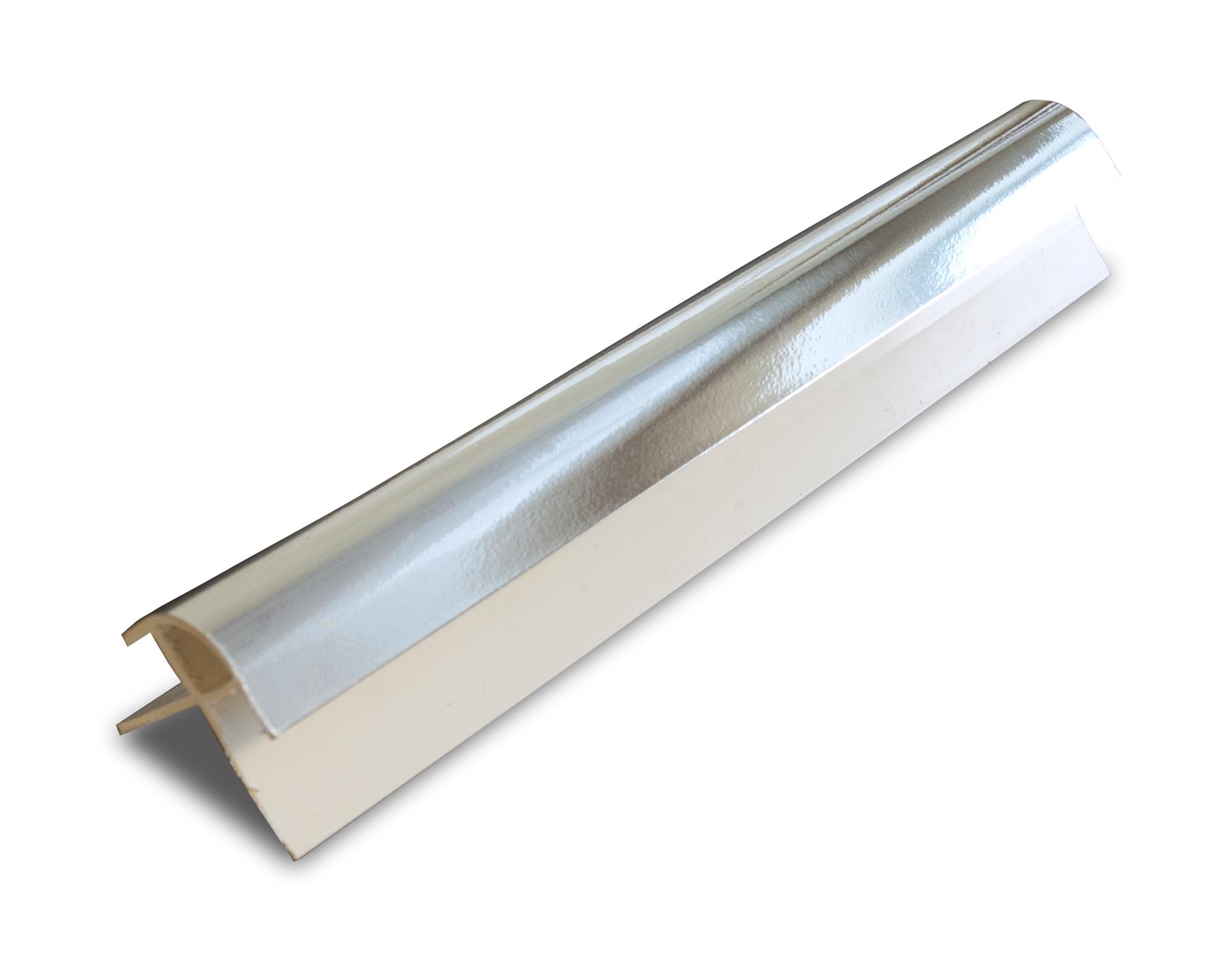 PVC Silver External Corner Panel Trim