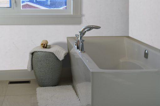 Milano Grey Bathtub Basket