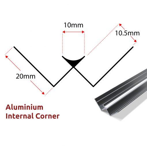 Aluminium Internal Corner Panel Trim