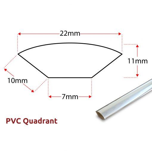 PVC Quadrant Panel Trim