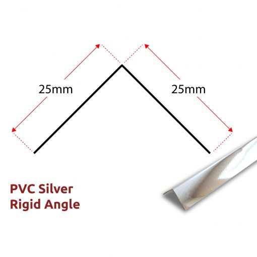PVC Rigid Angle - Silver Panel Trim