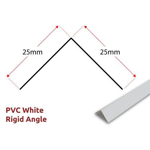 PVC Rigid Angle - White Panel Trim 1