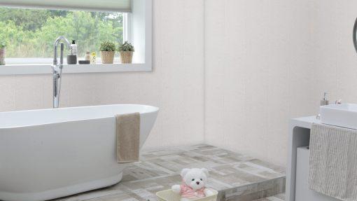 Grey Stone Bathroom Corner