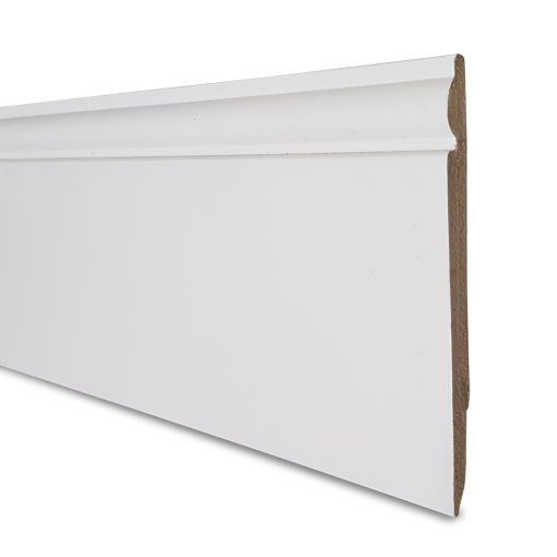 125mm x 2500mm or 5000mm Reversible PVC Skirting Board - Side-A
